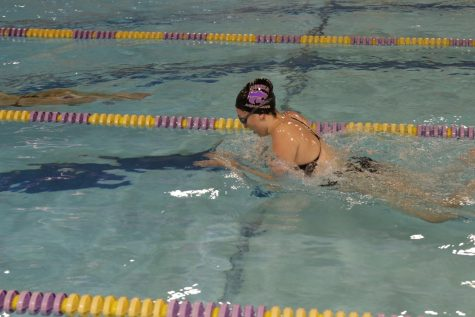 Dani Glass swims breast stroke in Eureka