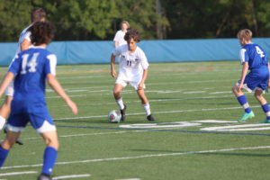 Freshman soccer game against Ladue High school 9/09. Photo by Tessa Siebels